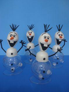 Bonecos do Olaf em EVA - Porta bombom