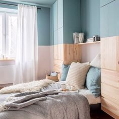 IKEA Hacks: 33 ways to update your favourite affordable furniture in a day Built In Furniture, Ikea Furniture, Furniture Update, Bedroom Furniture, Ivar Ikea Hack, Ikea Hacks, Ikea Malm, Studio Apartment Furniture, Malm Bed Frame