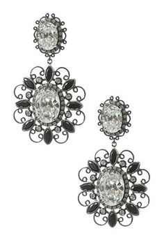 Scroll Marquise CZ Earrings