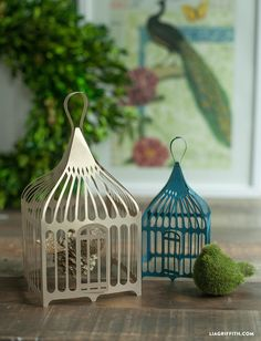 DIY Paper Bird Cages by MichaelsMakers Lia Griffith
