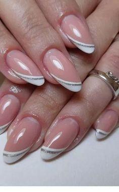 Маникюр дизайн ногтей в 2019 г. uñas de gel, uñas francesas и uñas pintadas Pink Nail Art, Glitter Nail Art, Toe Nail Art, Pink Nails, Toe Nails, Silver Glitter, Black Sparkle, Coffin Nails, French Nail Designs