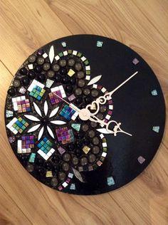 Handmade Mosaic Wall Clock on Etsy, $93.62