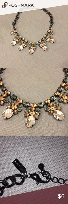 The Limited Statement Necklace Pretty statement necklace. In terrific shape! Pink, grey gems. Clasp end. The Limited Jewelry Necklaces