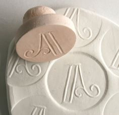 Clay Stamp Spell It Out For Me Fancy Monogram Single Letter Personalized -- Made to Order -- Choose Your Own