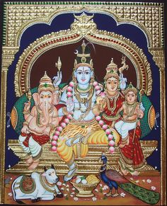 More Tanjore Paintings - Golden Streak Adorn Your Life with ART Mysore Painting, Durga Painting, Lord Shiva Painting, Tanjore Painting, Lord Murugan Wallpapers, Shiva Lord Wallpapers, Shiva Art, Krishna Art, Texture Painting On Canvas