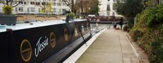 Jessie the #Narrowboat in Londen aan wal.
