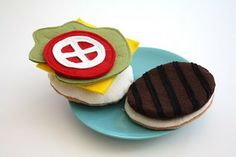 all kinds of felt play food @ Craftiness Is Not Optional