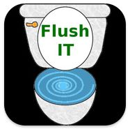 Flush It ($0.00) allows you to flush your frustration down the toilet. Simply select a picture from your photo gallery that represents who or what you are mad or frustrated with and swipe the toilet handle. Then you can watch your troubles go down the drain. You can even take a picture of the flush to save in your photo gallery.  Pediatric Therapy Center recommended for sound desensitization.