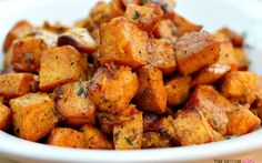 Cinnamon Turmeric Sweet Potatoes [Vegan] This recipe lets the natural flavor of sweet potato shine, elevating it with just a few select seasonings like cinnamon, [. Veggie Recipes, Whole Food Recipes, Diet Recipes, Vegetarian Recipes, Cooking Recipes, Healthy Recipes, Vegan Sweet Potato Recipes, Rutabaga Recipes, Watercress Recipes