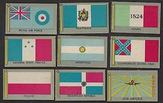 1950 PARADE FLAGS OF THE WORLD - 20 DIFFERENT CARDS - VG/EX TO EX+ | eBay Flags Of The World, Royal Air Force, Different, Holiday Decor, Cards, Pictures, Ebay, World Flags, Photos
