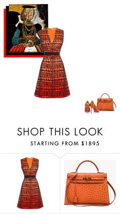 """Living in a cage..."" by theitalianglam ❤ liked on Polyvore featuring Roksanda, Hermès and Christian Louboutin"