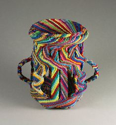 "MILLECOLORI Ply-split basket by Barbara J. Walker 5.25"" H x 5"" D; cotton, tencel, viscose"