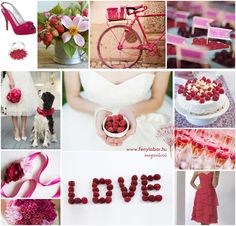 raspberry wedding inspiration