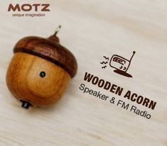 Okay, forget the Rock-it, THIS is what I need, with the fire of a thousand burning suns. Motz Tiny Wooden Acorn Speaker (Bulid-in FM Radio) for iPod and Player Made in Handicraft)