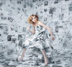 La Chica del Maletín: Transforma con papel de periódico