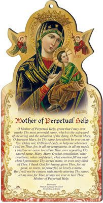 Mother of Perpetual Help wooden plaque by cbc