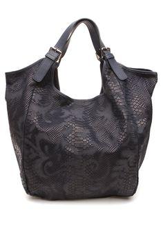 Marla Fiji  - Mona Bag - black snakeskin.