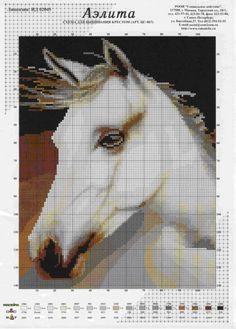 H - White Horse Portrait Cross Stitch Pattern Cross Stitch Horse, Cross Stitch Animals, Cross Stitch Kits, Cross Stitch Charts, Cross Stitch Designs, Cross Stitching, Cross Stitch Embroidery, Embroidery Patterns, Cross Stich Patterns Free