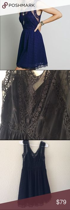 """FREE PEOPLE Victoria Mini Dress A crochet mesh bodice and flowy skirt features gorgeous scalloped lace detailing. Exposed hook and eye closures down the back with a hidden zipper. Fully lined. Color is BLACK. 80% cotton 20% nylon. Bodice is 100% nylon. Bust is 35"""", waist is 29"""", length is 33 1/8"""". Worn once. Selling because I am no longer a size 6. Comes from a pet/smoke free home. Reasonable offers considered. Thank you for checking out my closet! Free People Dresses Mini"""