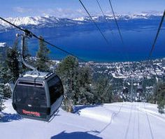 Heavenly Ski Resort at Lake Tahoe Rode the gondola to the top of the mountain. - No chickening out this time. South Lake Tahoe, Lake Tahoe Skiing, Vacation Destinations, Vacation Spots, Dream Vacations, Tahoe Hotels, Heavenly Ski Resort, Ski And Snowboard, Snowboarding