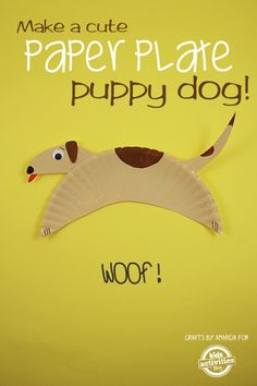 Dog paper plate activity