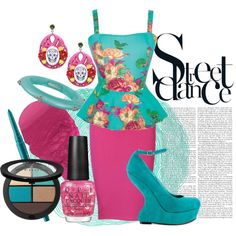 """""""33/50: Blue + Pink"""" by eiluned on Polyvore"""
