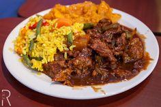 (Baltimore, Maryland) @thelandofkush: KUSH BBQ Ribs (soy) with Rice & Vegetable Medley and Candied Yams