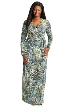 Plus Size Crinkle Print Tiered Maxi Skirt