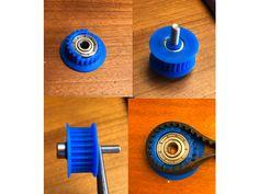 Idler pulley for belt with ComfortFit flange by jltx - Thingiverse 3d Printer Designs, 3d Printer Projects, 3d Projects, 3d Models For Printing, 3d Printing Diy, Useful 3d Prints, Arduino Cnc, Cnc Router, 3d Filament