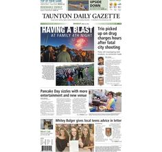 The front page of the Taunton Daily Gazette for Monday, June 29, 2015.