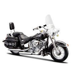 Miniatura Moto Harley-Davidson 2002 FLSTC Heritage Softail Classic Maisto 1:18 - Machine Cult | A loja das camisetas de carro e moto