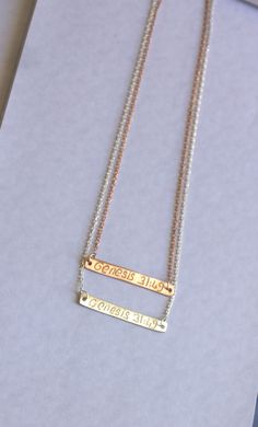 SPECIAL Gold  Bar Necklace-Silver-Gold Filled-rose by HelloSprings