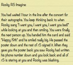 rocky lynch in r5 imagine if you want one comment the boys name and your name.