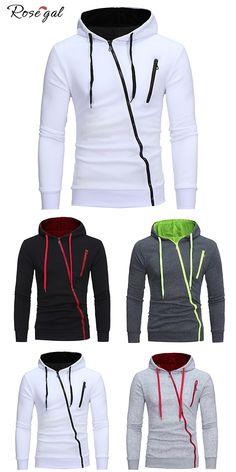 Sweat à Capuche en 4 couleur  Rosegal  homme  mode d3e92a96f01