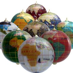 Gemstone Christmas Globe Ornament      Wondering what other ornaments would go with these for at themed tree