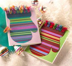Простые новогодние открытки, которые можно сделать с детьми