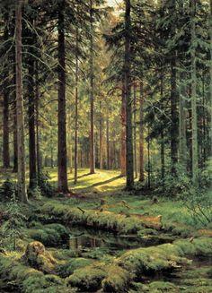 Хвойный лес. Солнечный день 1895 137х103. Иван Иванович Шишкин