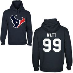 Houston Texans Mens Custom Any Name & Number Hooded Sweatshirt