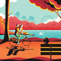 Colorful Illustrations in London – Fubiz Media