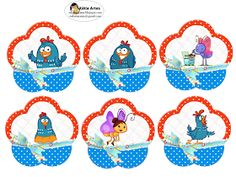 Lottie Dottie Chicken: Free Printable Labels o Toppers.