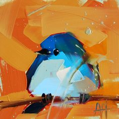 angela moulton's painting a day. Mountain bluebird #6