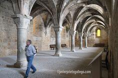 Comedor de Conversos. Siglo XII. Monasterio cisterciense de Santa María de Huerta. Soria. Castilla y León. España. © Javier Prieto Gallego. Blog de viajes www.siempredepaso.es