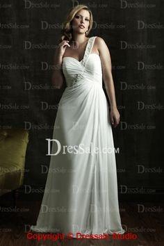 Royal One Shoulder Embroidery Ruffles Fashion Wedding Dress