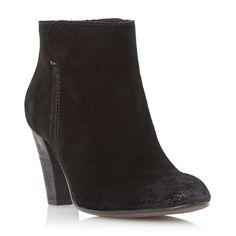 DUNE+BLACK+LADIES+PHARAH+-+Back+Zip+Heeled+Ankle+Boot+-+black+|+Dune+Shoes+Online