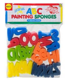 Look at this Alphabet Sponge Set on #zulily today!