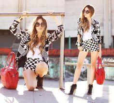 Le Charme Blazer, Romwe Shorts, You K! Bag, Zero Uv Sunglasses