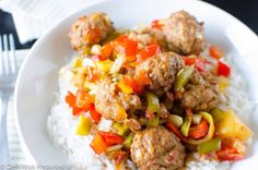 Crockpot to the rescue! Assemble in the morning and it's ready when YOU are. Vegan meatballs covered in a sweet & spicy pepper sauce.