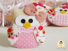 Sonhos de Mel 'ੴ - Crafts em feltro e tecido: °°Corujinhas para Rafaela...