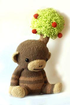Onklid - Amigurumi Monkey Crochet Pattern. $5.20, via Etsy.