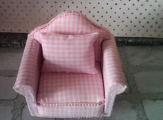 dolls house pink  armchair  with by SmallthingsbyAmanda on Etsy, £4.35